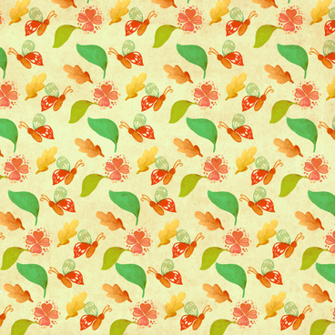 butterfly and leaf pattern