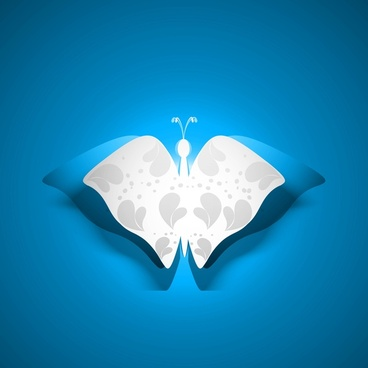 butterfly artistic styles blue colorful vector background