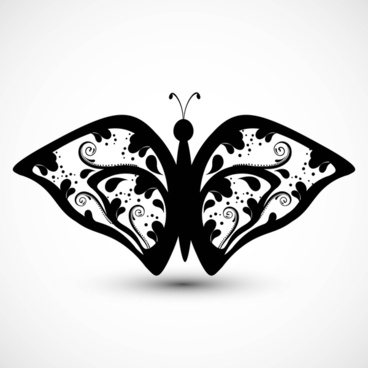 butterfly artistic styles vector background