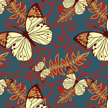 butterflies background colorful flat classic decor
