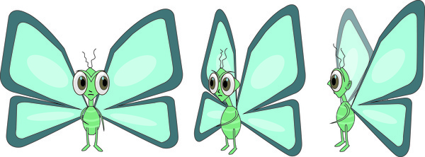 butterfly character design