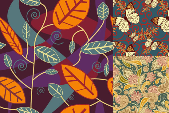 butterfly flower leaves background design vector