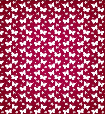 butterfly free vector pattern