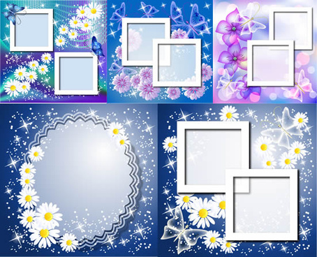 butterfly fresh border frames vector