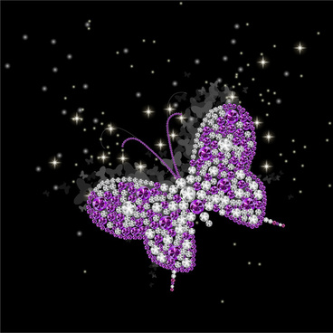 butterfly made from gem