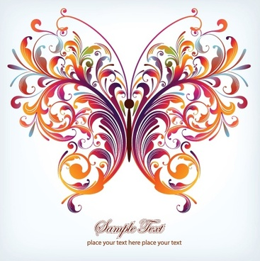 butterfly pattern 03 vector