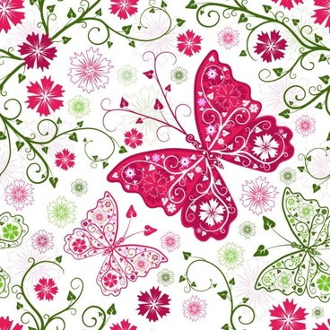 butterfly pattern background 02 vector