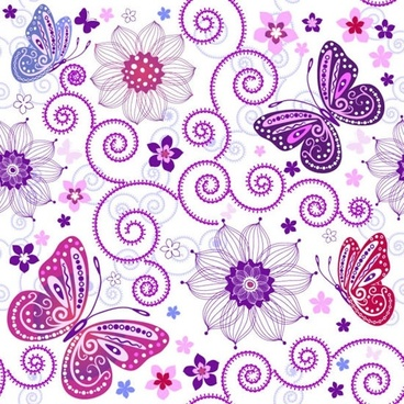 butterfly pattern background vector