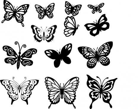 butterfly set free cdr vectors art