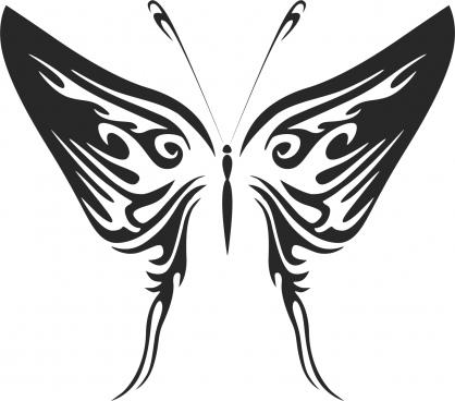 butterfly silhouette design cdr vectors art