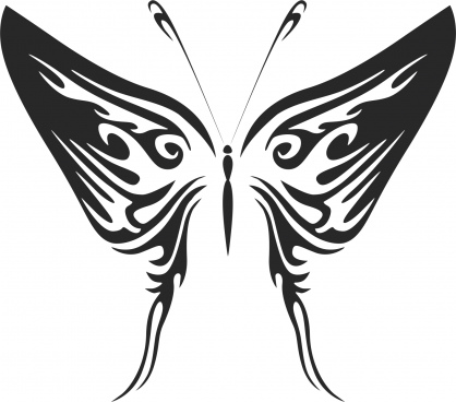 butterfly tribal free cdr vectors art