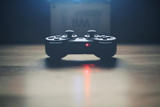 button close up console control desk game light
