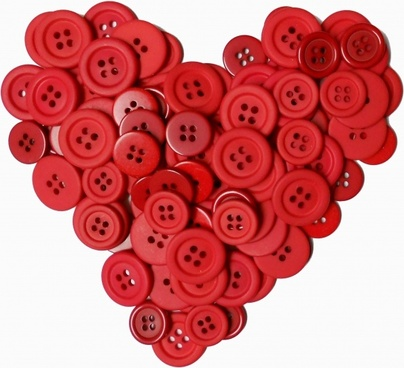 button heart valentine