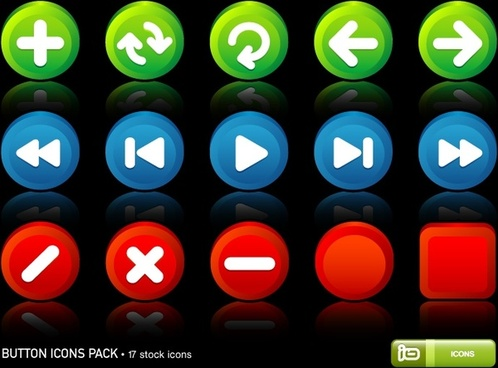 Button Icons Pack icons pack