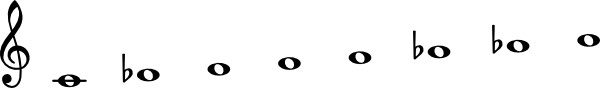C Phrygian Dominant Scale clip art