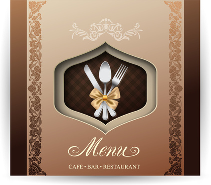 cafe bar restaurant menu with classical border