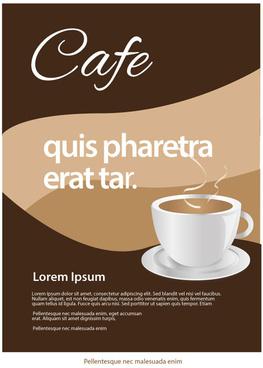 cafe leaflet design idea