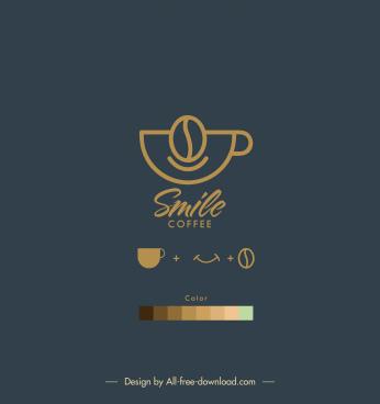 cafe menu cover template elegant dark flat sketch