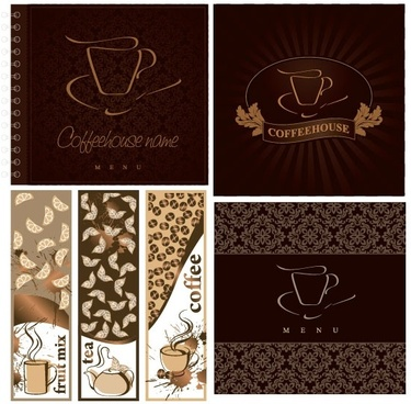 cafe menu cover vector