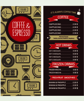 cafe menu creative design vecor
