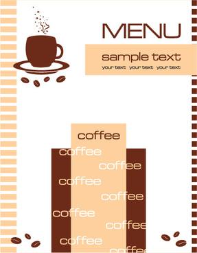 cafe menu vector template