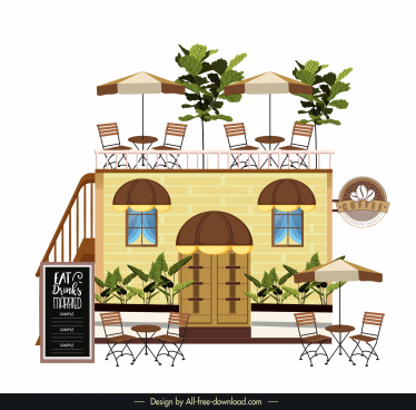 cafeteria architecture template modern outdoor decor