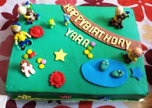caillou birthday cake yara aram