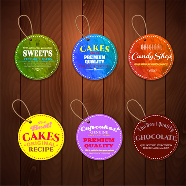 cake product tags label