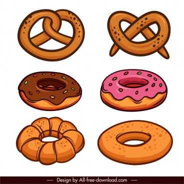 cakes icons classical haddrawn sketch