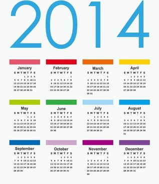 calendar14 vector graphic