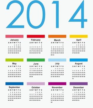 calendar14 vector graphic