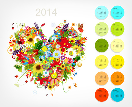 calendar14 vector huge collection0