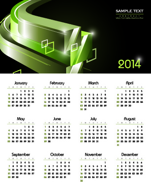 calendar14 vector huge collection5