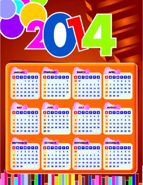 calendar14 vector huge collection6