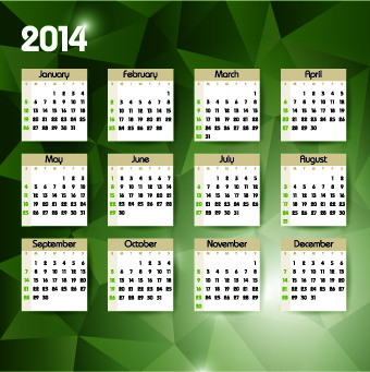 calendar14 vector huge collection6