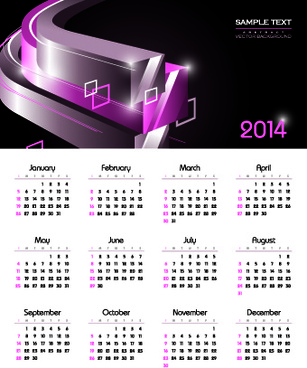 calendar14 vector huge collection7