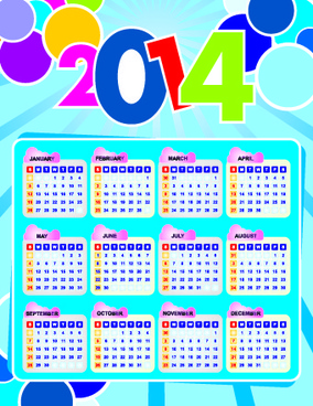 calendar14 vector huge collection9