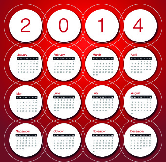 calendar14 vector huge collection