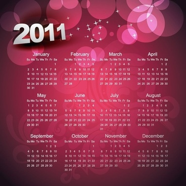 Calendar 2010 Printable Vector Template