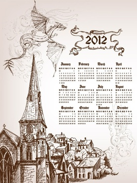calendar 2012 calendar 03 vector