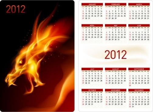 calendar 2012 calendar 06 vector