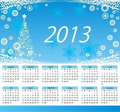Calendar 2013 Merry Christmas