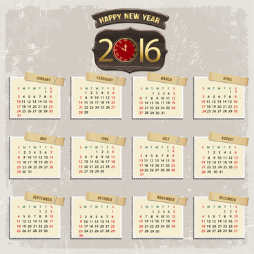 Calendar 2018 templates free vector download 14949 free vector calendar 2016 template reheart Image collections