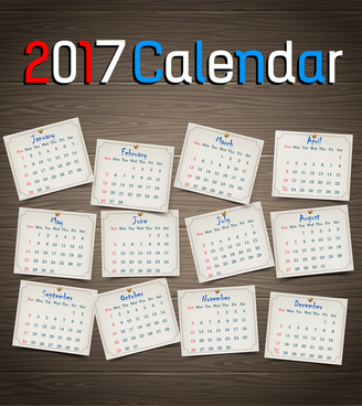calendar 2017 templates pin table