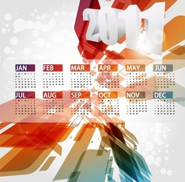 Calendar Design 2011 Vector Illustration