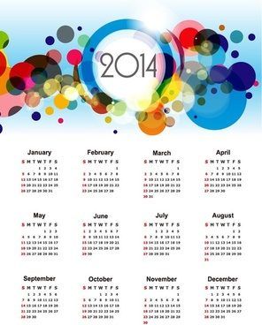 calendar for14 vector illustration