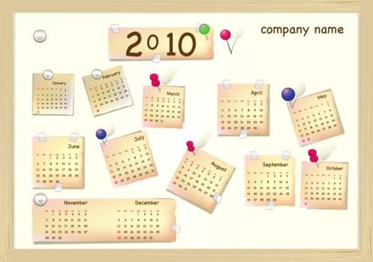 calendar year 2010 vector lovely