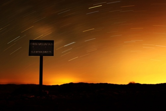 california ryan mountain sky