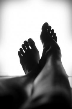 calm close up feet foot leg silhouette relaxing