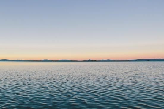 calm horizon landscape mountain ripple sky still